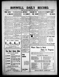 Roswell Daily Record, 04-13-1909 by H. E. M. Bear