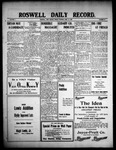 Roswell Daily Record, 04-16-1909 by H. E. M. Bear