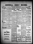 Roswell Daily Record, 04-19-1909 by H. E. M. Bear