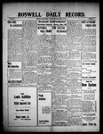 Roswell Daily Record, 04-20-1909 by H. E. M. Bear