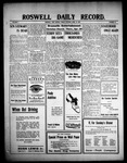 Roswell Daily Record, 04-23-1909 by H. E. M. Bear