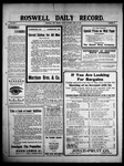 Roswell Daily Record, 04-30-1909 by H. E. M. Bear