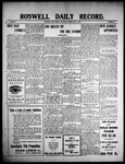 Roswell Daily Record, 05-01-1909 by H. E. M. Bear