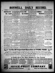 Roswell Daily Record, 05-04-1909 by H. E. M. Bear