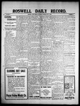 Roswell Daily Record, 05-15-1909 by H. E. M. Bear