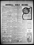 Roswell Daily Record, 05-22-1909 by H. E. M. Bear