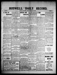 Roswell Daily Record, 05-24-1909 by H. E. M. Bear