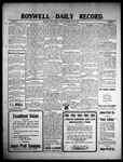 Roswell Daily Record, 05-25-1909 by H. E. M. Bear