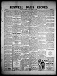 Roswell Daily Record, 05-29-1909 by H. E. M. Bear