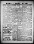 Roswell Daily Record, 07-07-1909 by H. E. M. Bear