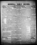 Roswell Daily Record, 07-15-1909 by H. E. M. Bear