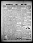 Roswell Daily Record, 07-19-1909 by H. E. M. Bear