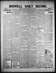 Roswell Daily Record, 07-20-1909 by H. E. M. Bear