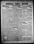 Roswell Daily Record, 07-21-1909 by H. E. M. Bear