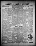 Roswell Daily Record, 07-22-1909 by H. E. M. Bear