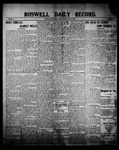Roswell Daily Record, 07-23-1909 by H. E. M. Bear
