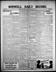 Roswell Daily Record, 07-27-1909 by H. E. M. Bear