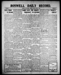 Roswell Daily Record, 08-03-1909 by H. E. M. Bear