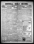 Roswell Daily Record, 08-12-1909 by H. E. M. Bear