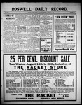 Roswell Daily Record, 08-14-1909 by H. E. M. Bear