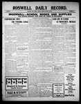 Roswell Daily Record, 08-30-1909 by H. E. M. Bear