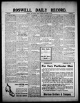 Roswell Daily Record, 09-10-1909 by H. E. M. Bear