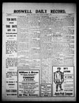 Roswell Daily Record, 09-17-1909 by H. E. M. Bear