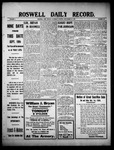 Roswell Daily Record, 09-18-1909 by H. E. M. Bear