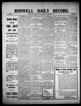 Roswell Daily Record, 09-20-1909 by H. E. M. Bear