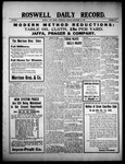 Roswell Daily Record, 09-22-1909 by H. E. M. Bear