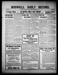 Roswell Daily Record, 09-28-1909 by H. E. M. Bear