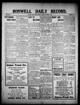 Roswell Daily Record, 10-08-1909 by H. E. M. Bear