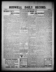 Roswell Daily Record, 10-11-1909 by H. E. M. Bear