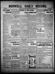 Roswell Daily Record, 11-22-1909 by H. E. M. Bear