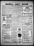Roswell Daily Record, 12-18-1909 by H. E. M. Bear