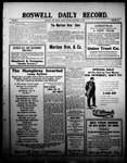 Roswell Daily Record, 12-31-1909 by H. E. M. Bear