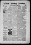 Sierra County Advocate, 10-10-1885 by J.E. Curren