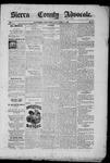 Sierra County Advocate, 10-17-1885 by J.E. Curren