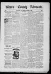 Sierra County Advocate, 11-14-1885 by J.E. Curren