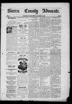 Sierra County Advocate, 12-05-1885 by J.E. Curren
