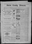 Sierra County Advocate, 10-10-1902 by J.E. Curren