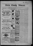 Sierra County Advocate, 01-30-1903 by J.E. Curren