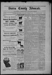 Sierra County Advocate, 09-11-1903 by J.E. Curren