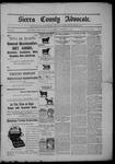 Sierra County Advocate, 11-27-1903 by J.E. Curren