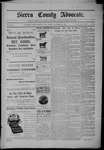 Sierra County Advocate, 09-30-1904 by J.E. Curren