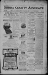 Sierra County Advocate, 06-02-1905 by J.E. Curren