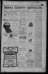 Sierra County Advocate, 08-04-1905 by J.E. Curren