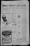 Sierra County Advocate, 08-18-1905 by J.E. Curren