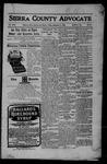 Sierra County Advocate, 09-08-1905 by J.E. Curren