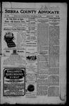 Sierra County Advocate, 11-03-1905 by J.E. Curren